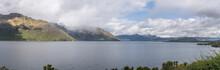 Cecil Peak Promontory And Kelvin Heights Peninsula At Wakatipu Lake, From Drift Bay, Otago, New Zealand