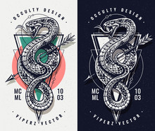 Occult Design With Snake And G...