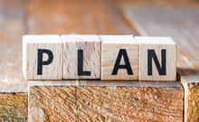 Wooden Letters, Changes The Word PLAN