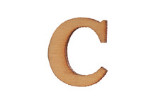 Wooden Letter C Isolated On Wh...