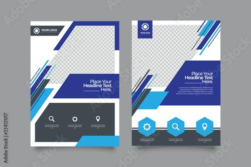 poster flyer pamphlet brochure cover design layout space for photo background, v Fotobehang