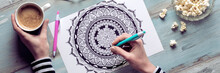 Adult Coloring Book, Stress Re...