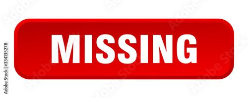 Fotografie, Obraz missing button. missing square 3d push button