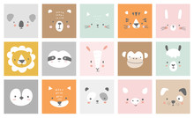 Cute Simple Animal Portraits -...