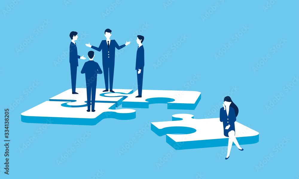 Fototapeta パズルとビジネスマン、チームワークのイメージ