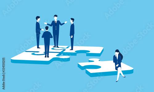 Valokuva パズルとビジネスマン、チームワークのイメージ