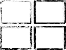 Set Of Grungy Vector Frames. D...
