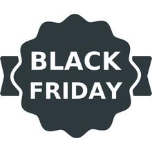 Black Friday Black Icon On White Background