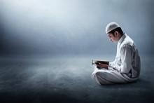 Religious Muslim Man Reading H...