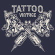 Tattoo Machines tattoo ink Vintage drawing vector