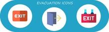Modern Simple Set Of Evacuation Vector Flat Icons