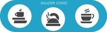 Saucer Icon Set