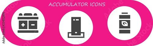 accumulator icon set Canvas Print