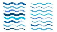 Wave Brush. Cyan Water Waves, ...