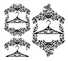 Coat Hanger In Floral Frame Wi...