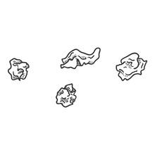 Vector Sketch Crumpled Paper