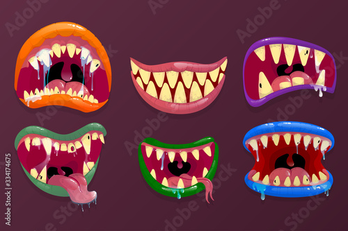 Valokuvatapetti Monsters mouths.
