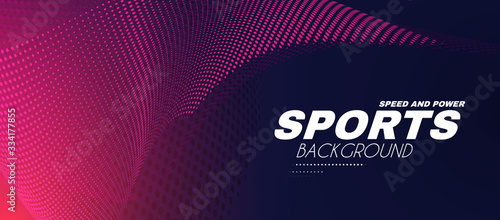 Fototapeta Abstract sport background with motion elements. Light dynamic effect. obraz