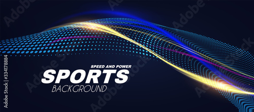 Abstract sport background with motion elements Wallpaper Mural