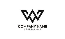 VW Or WV Monogram Logo Design