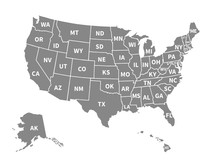 Usa Map. Infographic Us Map Wi...