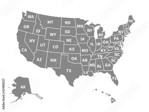 Fotografia Usa map