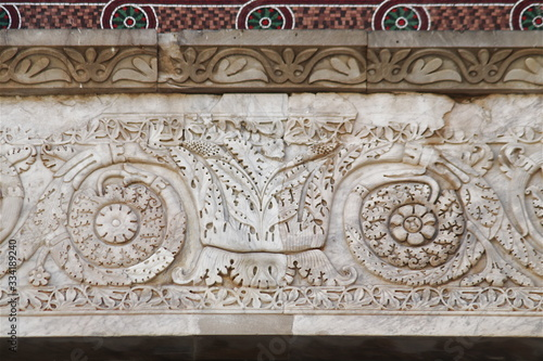Photo Lintel of the Cathedral of Cagliari, Sardinia, Italy