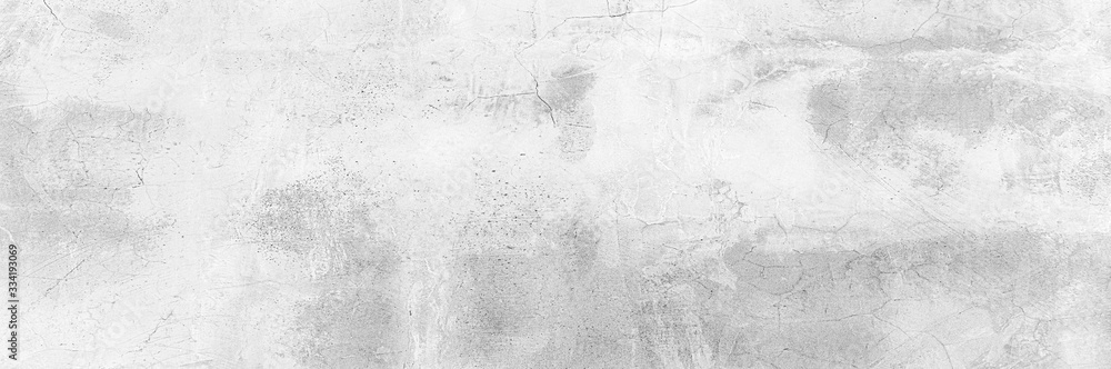 Fototapeta Cement wall floor High Resolution White and gray Panorama full frame Abstract texture background.