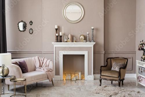 modern interior of a living room Poster Mural XXL