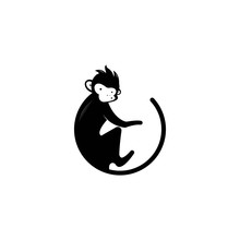 Monkey Vector Logo Design