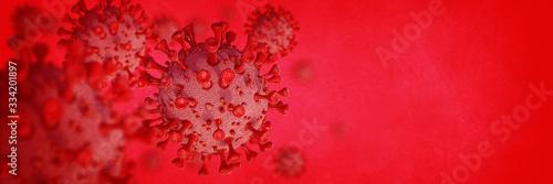 Obraz Coronavirus red - fototapety do salonu