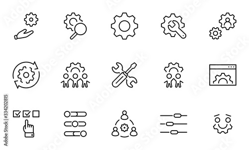 Fotografía Set of Washing Hands Vector Line Icons