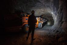 Man Miner In Underground Quart...