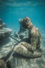 Status At The Cancun Underwater Museum Of Art – MUSA