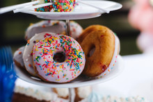 Bright Donuts And Sweets On A...