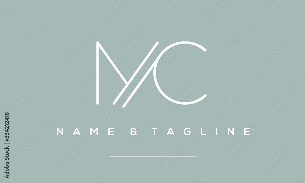 Fototapeta alphabet letter icon logo MC