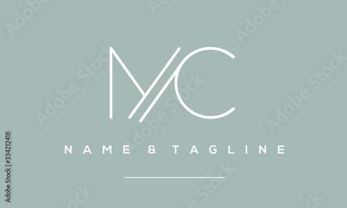 alphabet letter icon logo MC Billede på lærred