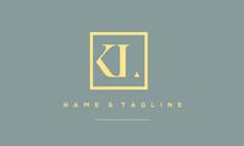 Alphabet Letter Icon Logo KL