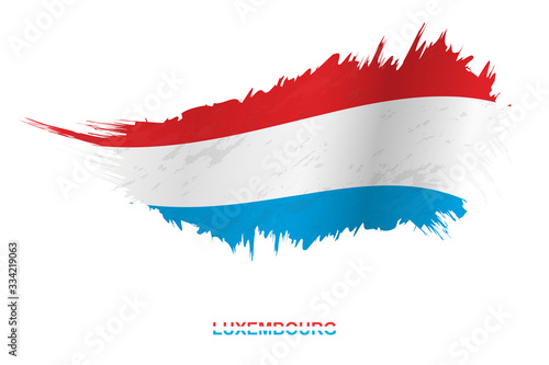Fototapeta Flag of Luxembourg in grunge style with waving effect. obraz