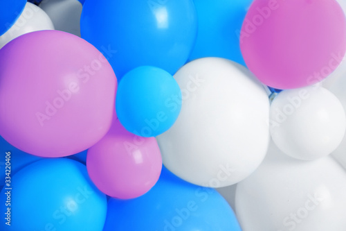 Many color balloons as background. Party decor