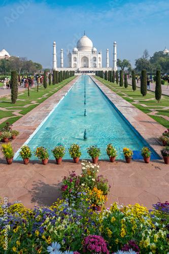Photo Flowers setup for Donald Trump's visit to the Taj Mahal