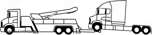 Truck towing - Wrecker truck - Heavy duty tow truck - Road Wrecker Truck - assis Fotobehang