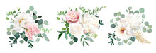 Blush Pink Rose And Sage Green...