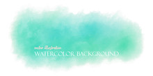 Watercolor Grren Mint Pastel B...