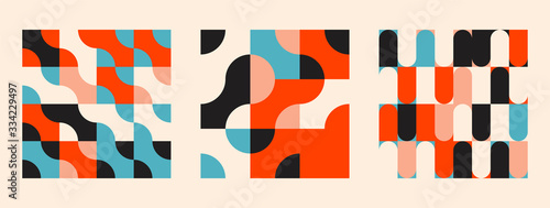 Universal shapes set for graphic design Tableau sur Toile