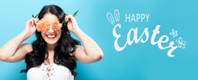 Happy Easter Message With Youn...