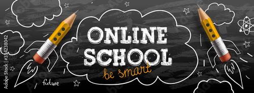 Online School Billede på lærred