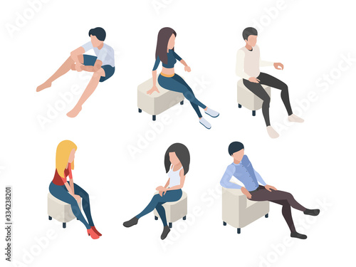 Sitting people Canvas