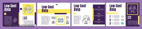 Photo Low cost avia brochure template