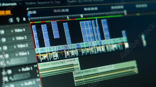 Fotomural video editting timeline